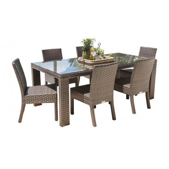 Fiji Outdoor 7 piece Dining Set with Side Chairs