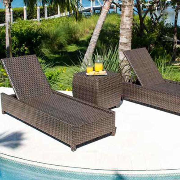 Fiji Outdoor 3 piece Chaise Lounge