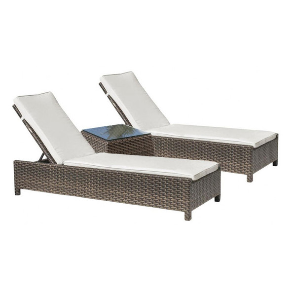 Fiji Outdoor 3 piece Chaise Lounge with cushion