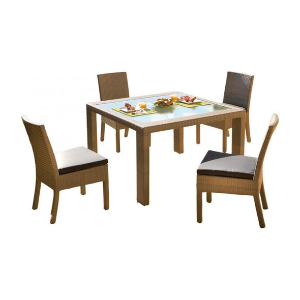 Rubix Outdoor 5 piece Side Chair Dining Set
