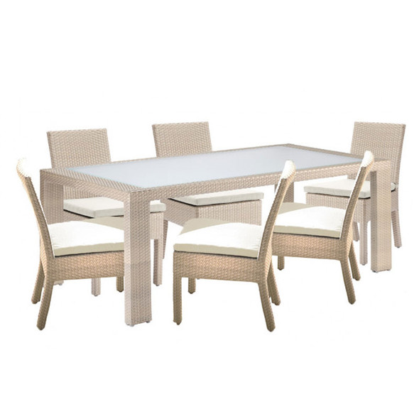 Rubix Outdoor 7 piece  Side Chair Dining Set