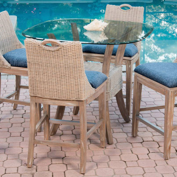 Belize 5 piece Counter Height Dining Set in Rustic Driftwood finish