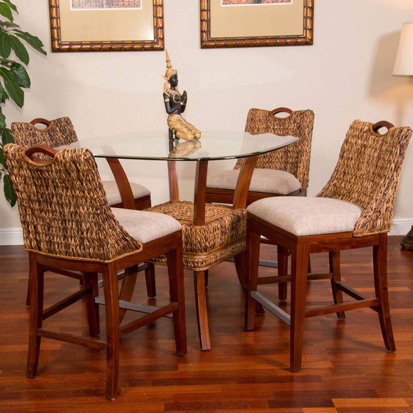 Belize 5 piece Counter Height Dining Set in Sienna finish