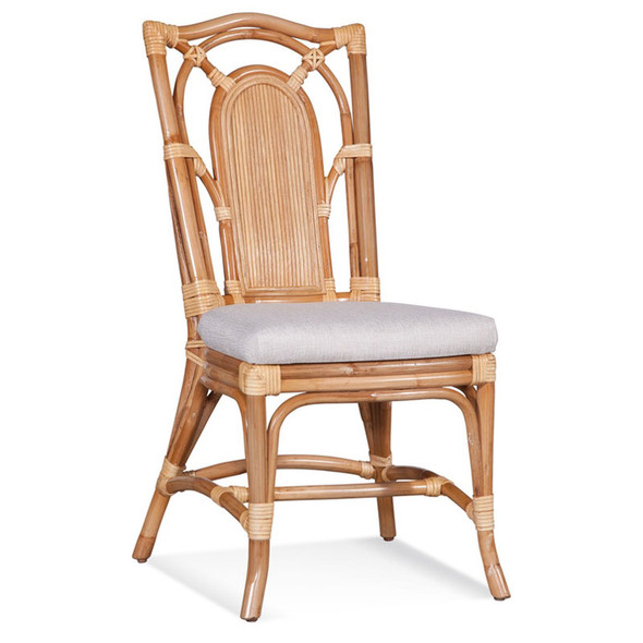 Bay Walk Dining Sidechair  in fabric '0851-93 A' and Natural finish