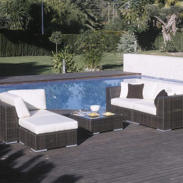 Soho Outdoor 5 piece Deep Seating Sectional Set