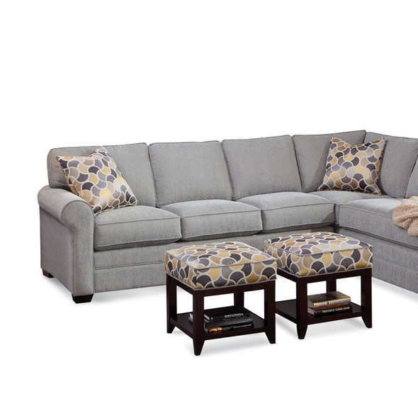 Bedford LSF 1-Arm Sofa in fabric 358-88 A and Java finish
