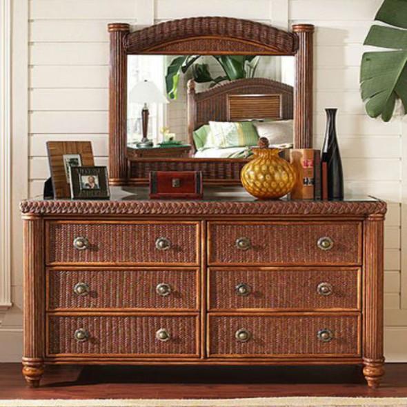 Harborside 6 Drawer Double Dresser With Mirror