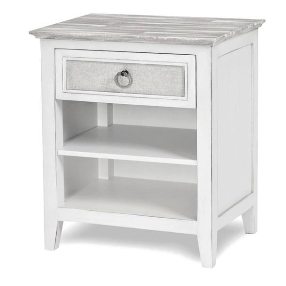 Captiva Island 1-drawer Nightstand in Grey Wash/Blanc finish