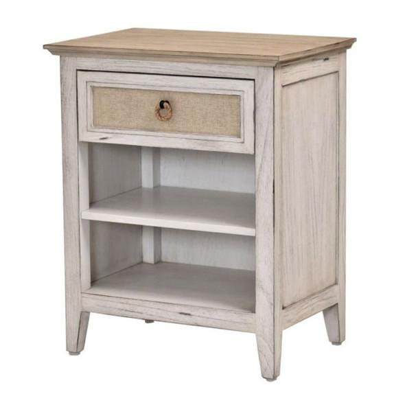 Captiva Island 1-drawer Nightstand in Beach Sand/Weathered White finish