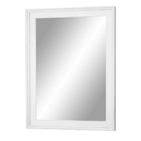 Captiva Island Mirror in Blanc finish