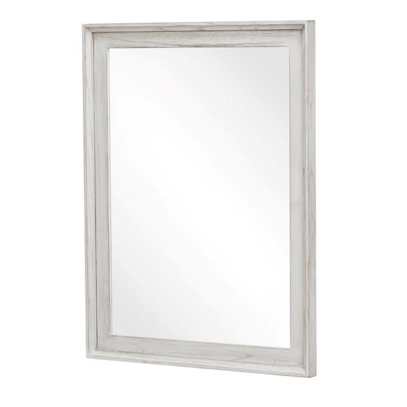 Captiva Island Mirror in Weathered White finish
