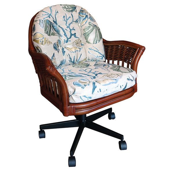 Bridgeport Tilt Swivel Caster Office Chair in Sienna finish