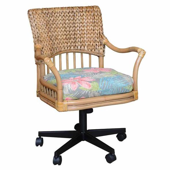 Key Largo Tilt Swivel Caster Office Chair in Antique Honey finish