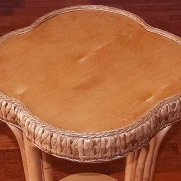Key Largo Accent Table with Veneer Top in Antique Honey finish