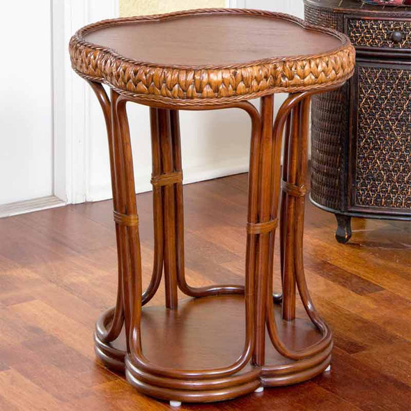 Key Largo Accent Table with Veneer Top in Sienna finish