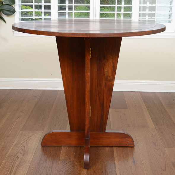 Serengeti Counter Table with Teak Top in Sienna finish