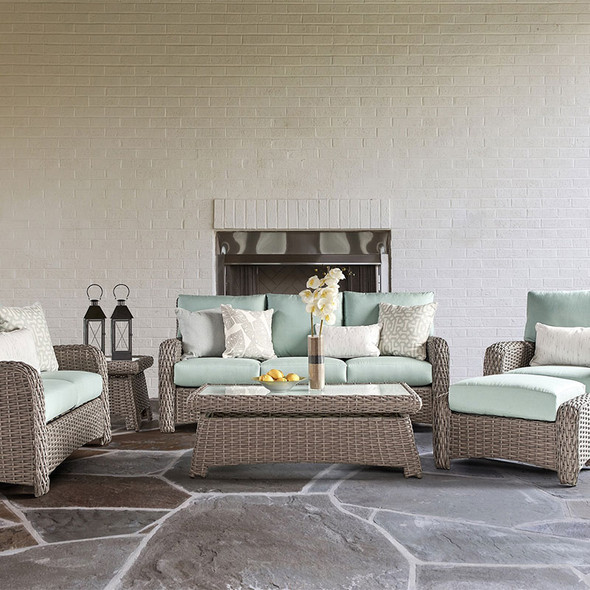 Saint Tropez Outdoor 6 piece Seating Set in Stone finish