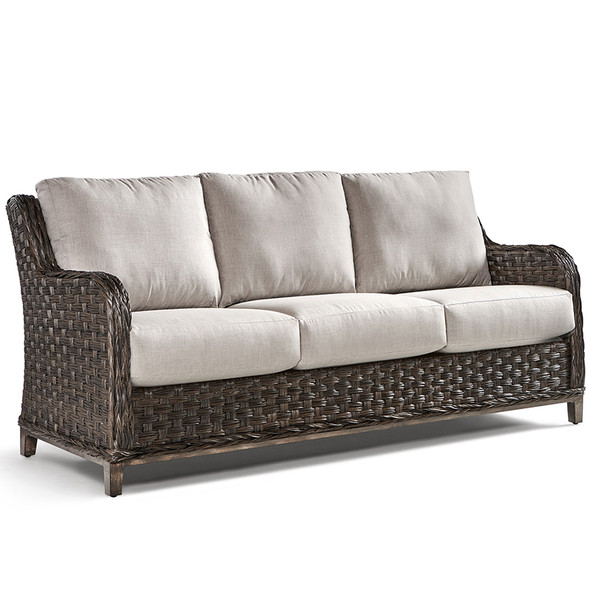 Grand Isle Outdoor Sofa in Dark Caramel finish