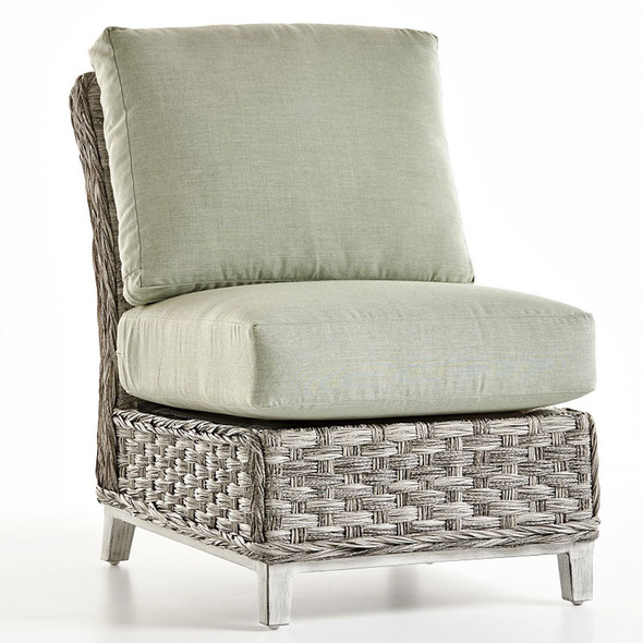 Grand Isle Outdoor Sectional Armless Chair in Soft Granite finish