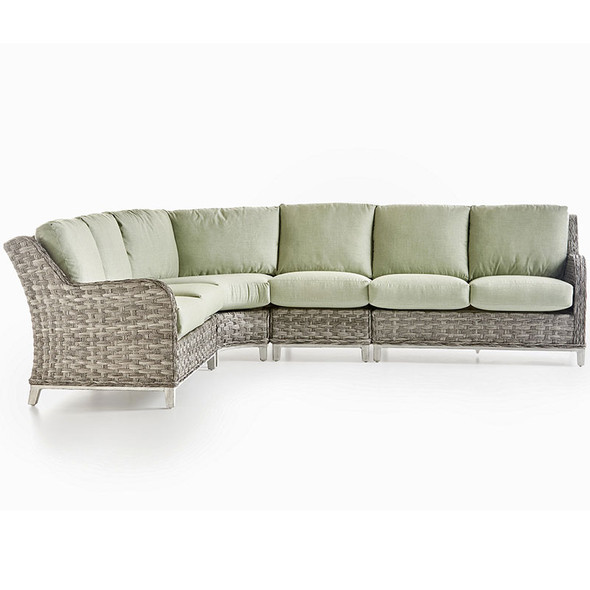 Grand Isle Outdoor 4 piece Sectional Set in Soft Granite finish