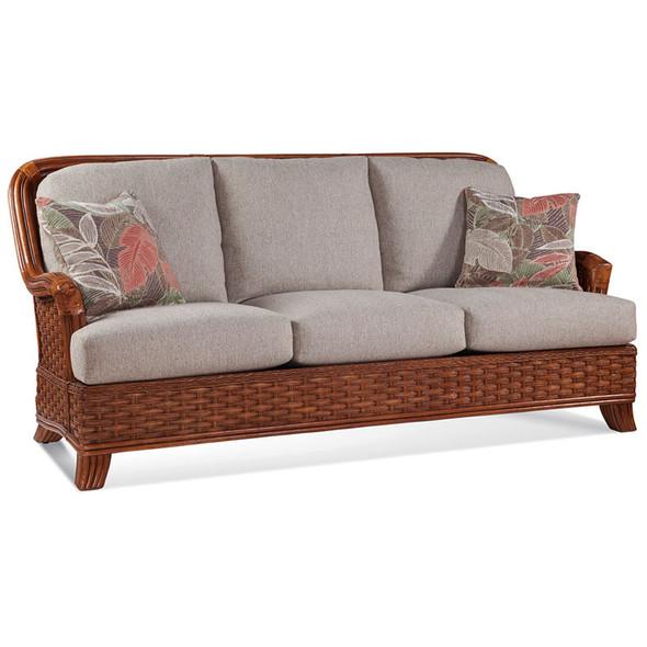 Somerset Sofa in fabric '0861-74 C' and Havana finish