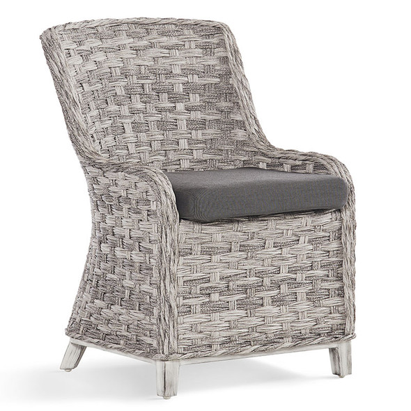 Grand Isle Outdoor Dining Side Chair in Soft Granite finish