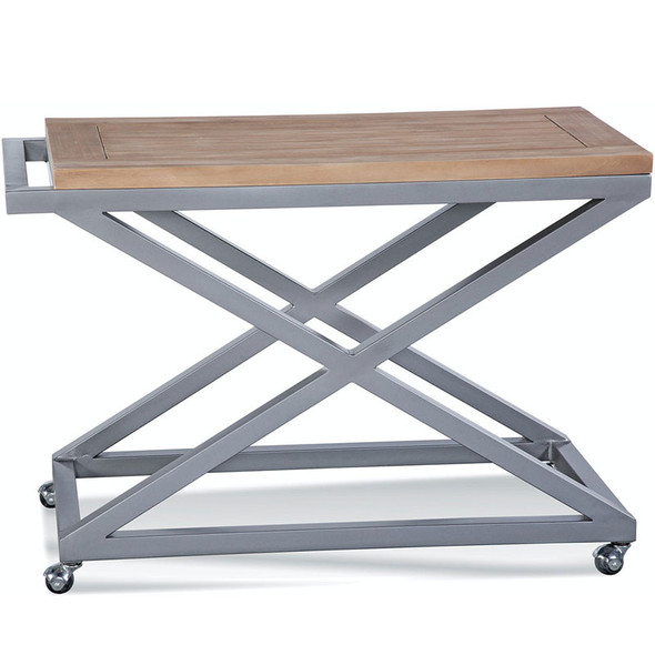 Alghero Bar Cart with Teakwood top
