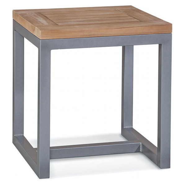 Alghero Outdoor End Table  with Teakwood top