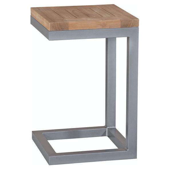 Alghero Outdoor Side Table with Teakwood top
