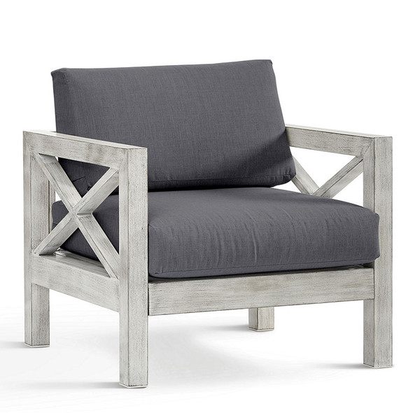 Farlowe Outdoor Chair in brushed white finish