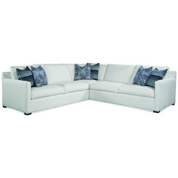 Bel-Air 3-Piece Sectional Set in fabric '0851-94 A' and Java finish