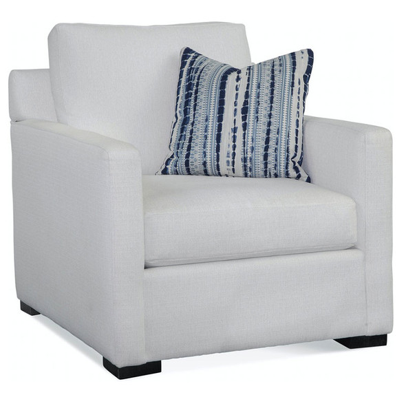 Bel-Air Chair in fabric '0865-91 B' with pillow fabric '0286-61 I' and Java finish