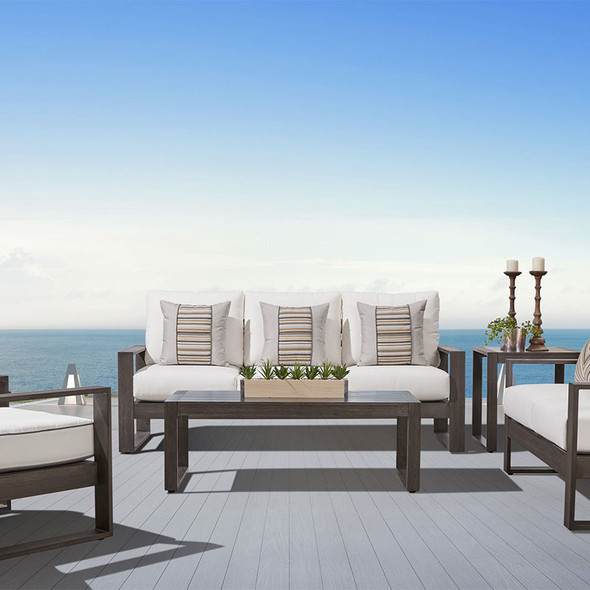 Ryan Outdoor Seating Collection in the gray-brown Nimbus finish