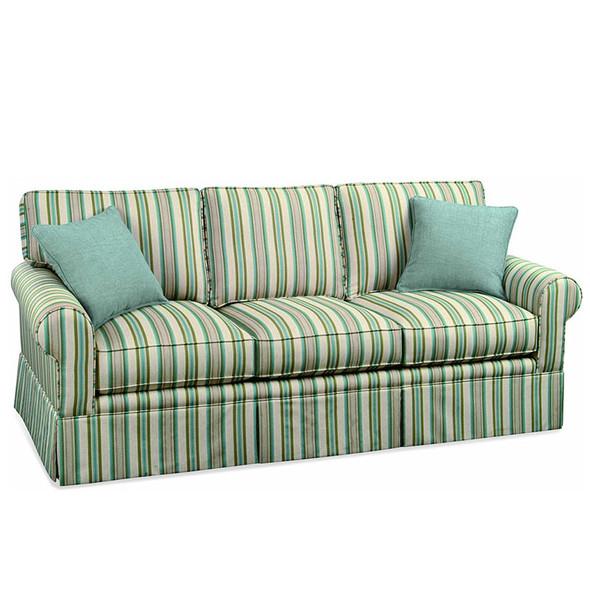 Benton Skirted 3 over 3 Sofa in fabric '232-54 F'