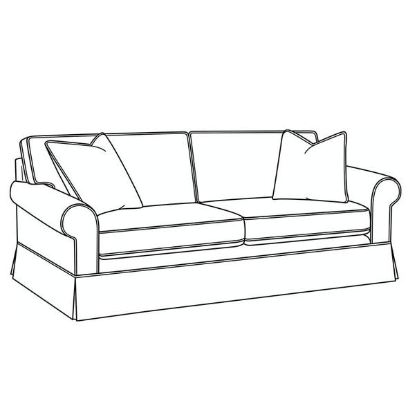 Benton Skirted 2 over 2 Sofa