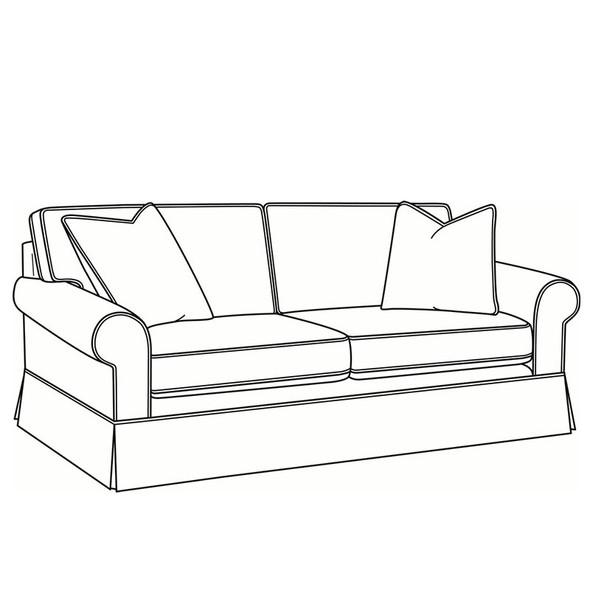Benton Skirted 2 over 2 Queen Sleeper Sofa