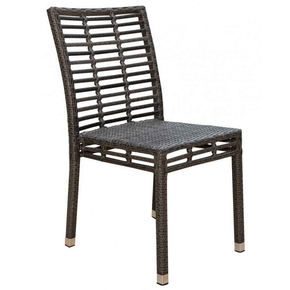 Graphite Outdoor Stackable Side chair