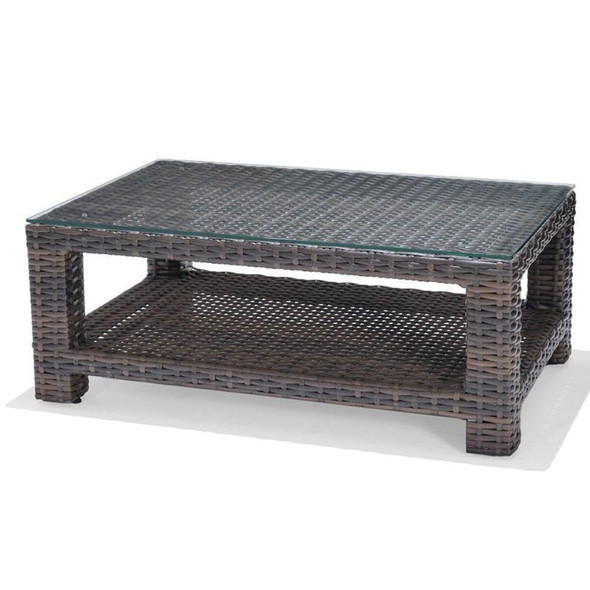 Lakeside Outdoor Rectangle CoffeeTable with glass top