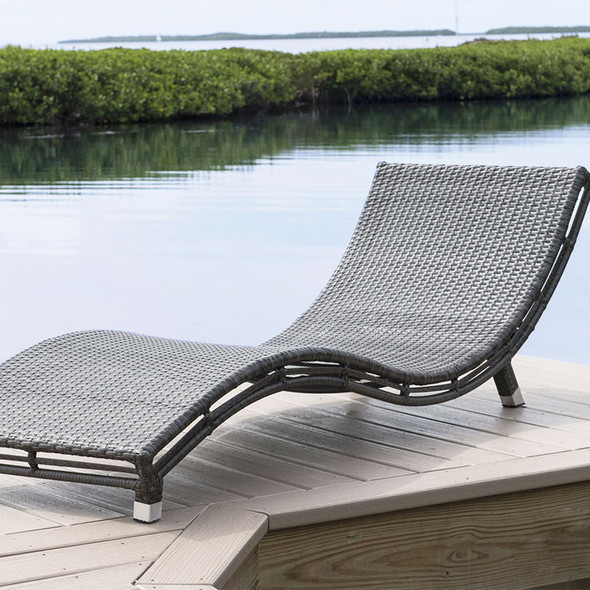 Graphite Outdoor Curve Chaise Lounge