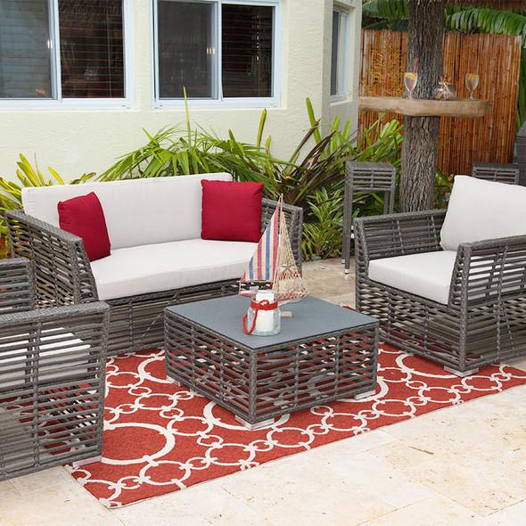 Graphite Outdoor 4 piece Seating Set