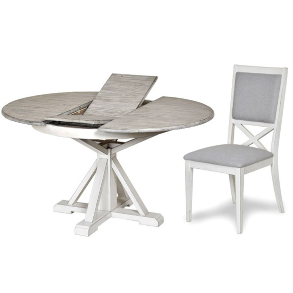 Islamorada Round Dining Table and Upholstered Dining Chair