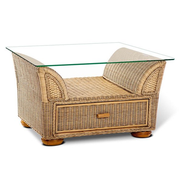 Majorca Coffee Table with storage in Natural Wash finish