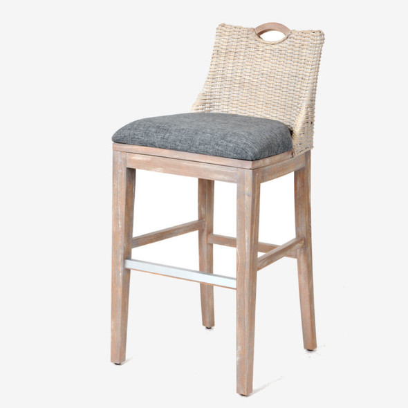 """Belize 30"""" Barstool in Rustic Driftwood finish"""