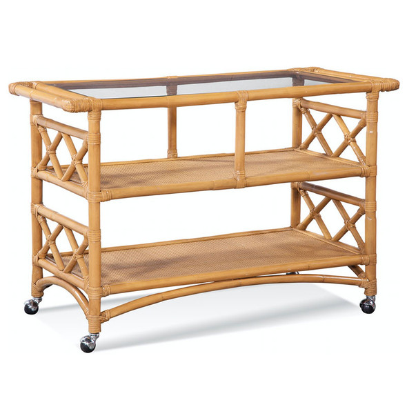 Montgomery Bar Cart in French Yellow finish