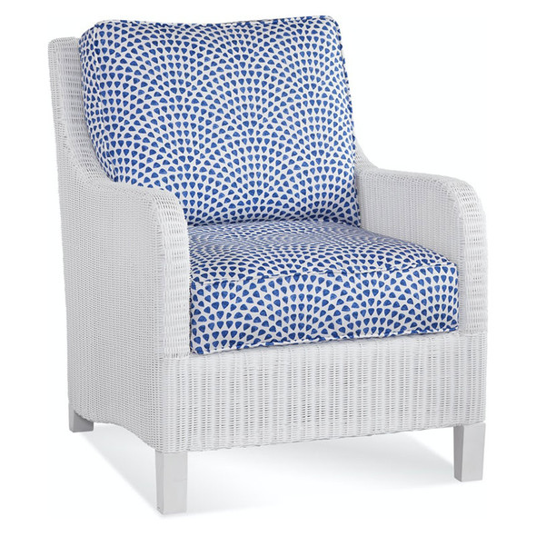 Tangier Outdoor Lounge Chair in White finish
