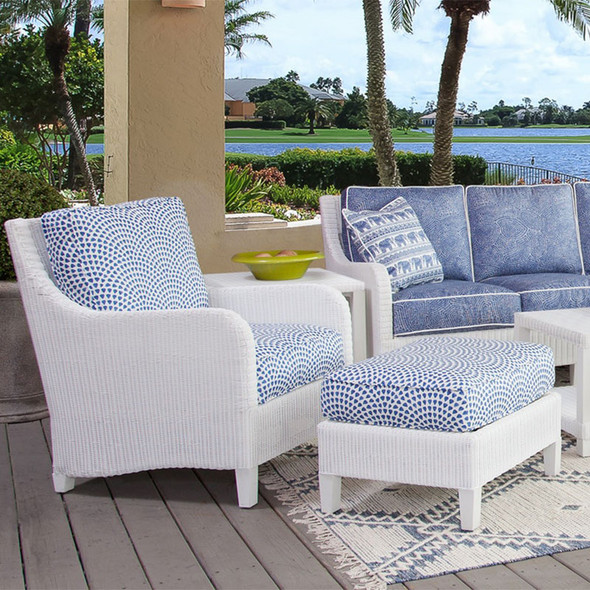 Tangier Outdoor Seating Collection in White finish