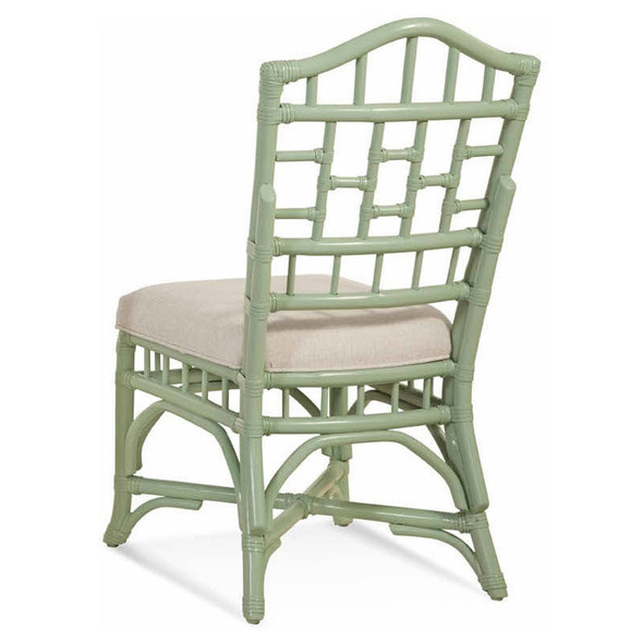 Chippendale Dining Side Chair in Fabric '0851-93 A' and Seamist finish