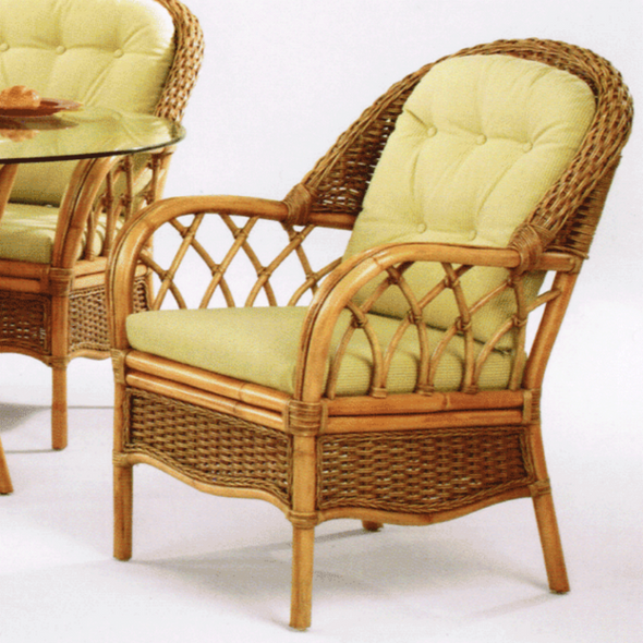 Everglade Dining Armchair is available in choice of finish color and fabric