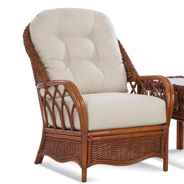 Everglade Lounge Chair in fabric '0863-91 B' and Havana finish