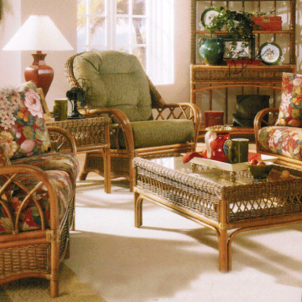 Everglade Loveseat is offered in your choice of finish color and fabric.